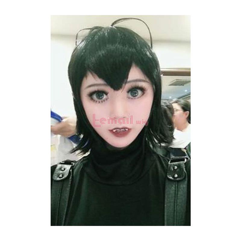 Movie Hotel Transylvania Mavis Dracula Black Short Cosplay Wig
