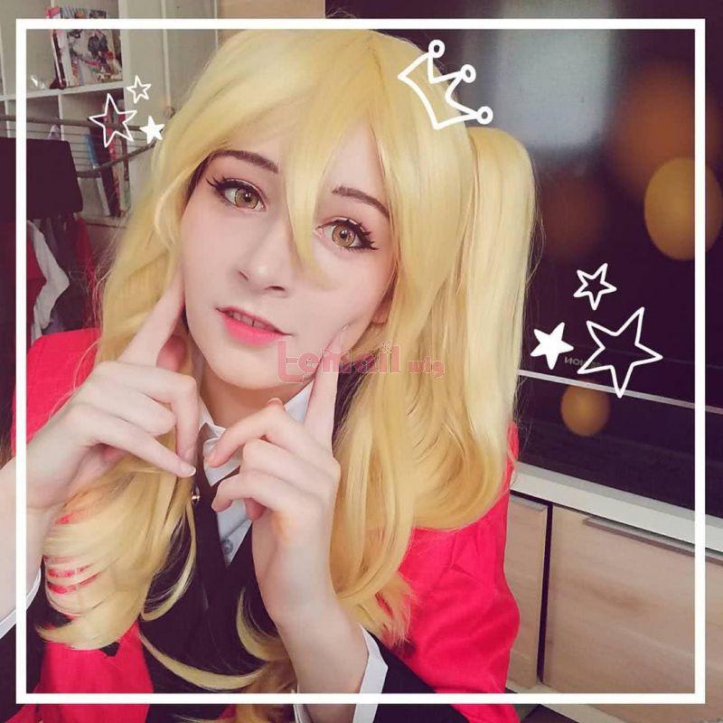 Anime Kakegurui Meari Saotome Cosplay Wig Blonde