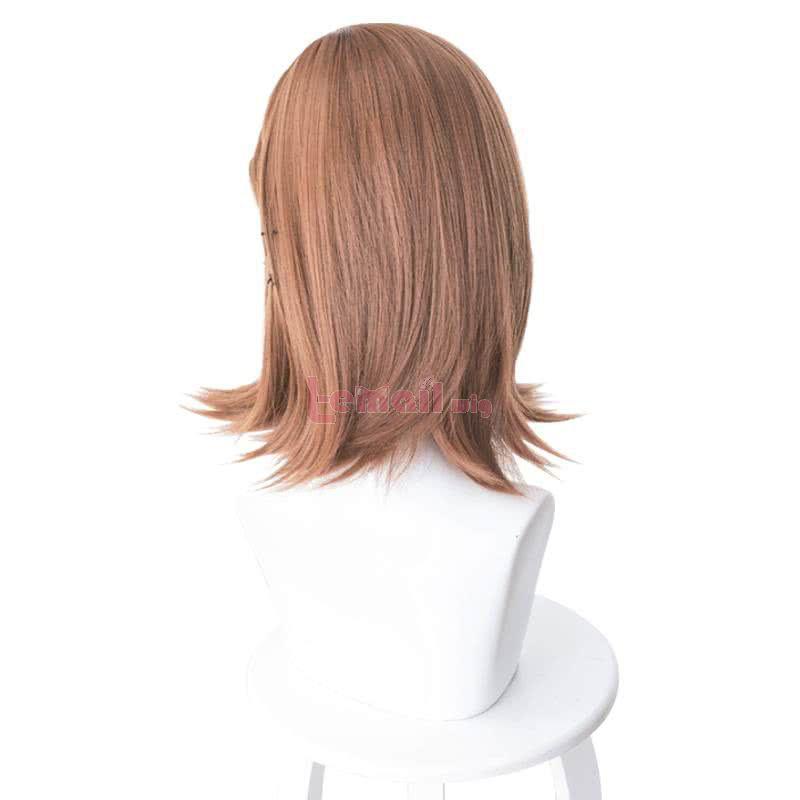 Anime A Certain Magical Index Misaka Mikoto Medium Long Brown Cosplay Wigs
