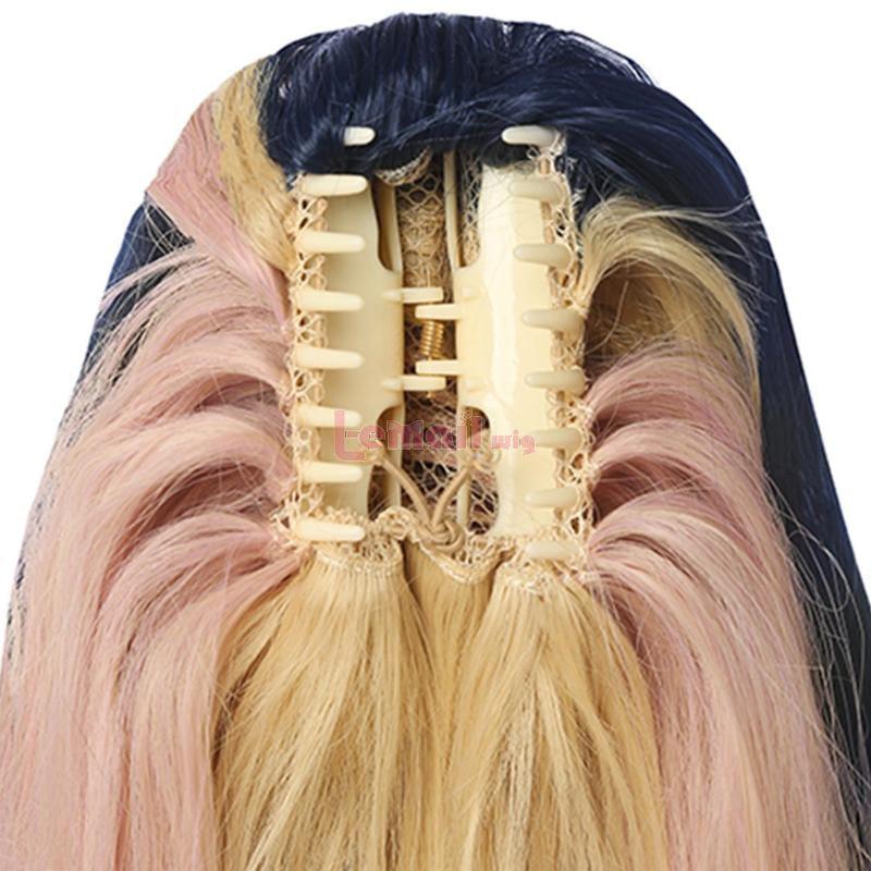 50cm LOL KDA BADDEST Akali Mix Cosplay Wigs