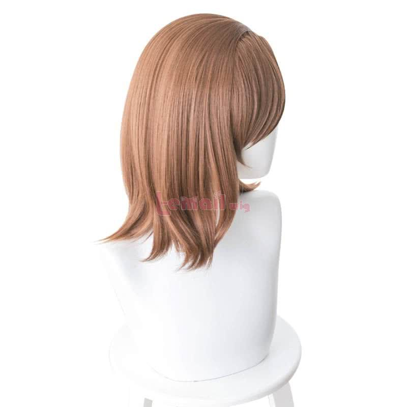 Anime A Certain Magical Index Misaka Mikoto Medium Long Brown Cosplay Wigs