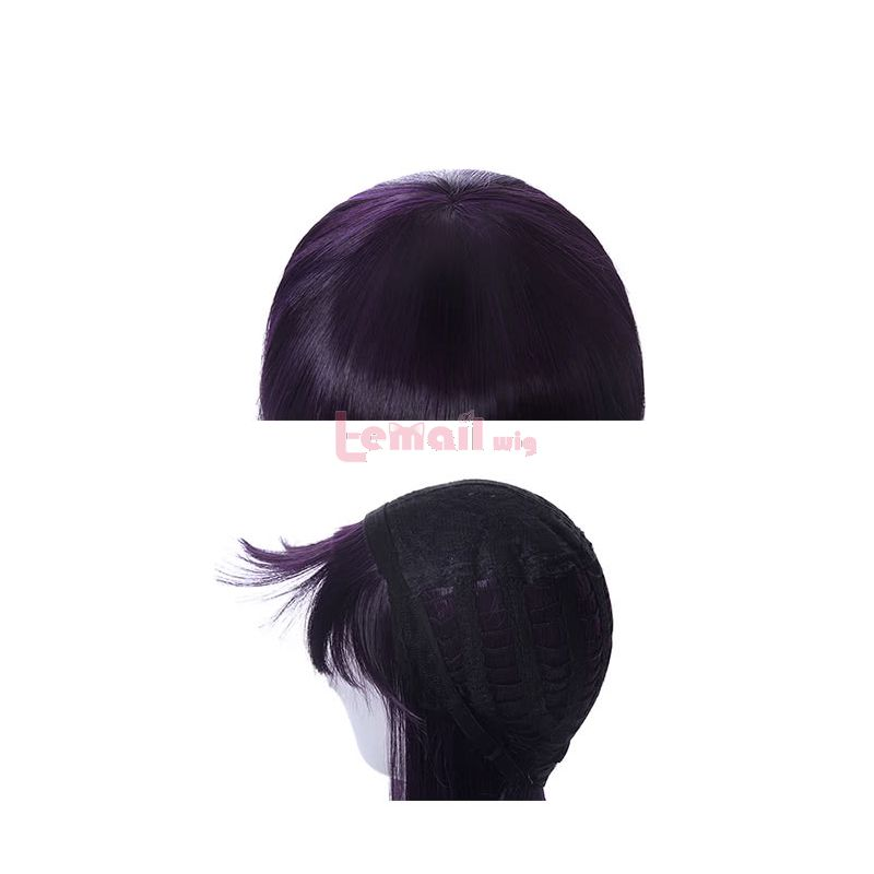 Anime Cardcaptor Sakura Daidouji Tomoyo Cosplay Wigs Purple Long Curly