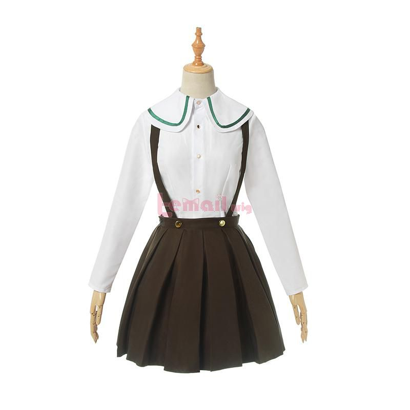 Anime Danganronpa Chihiro Fujisaki Green Uniform Cosplay Costumes