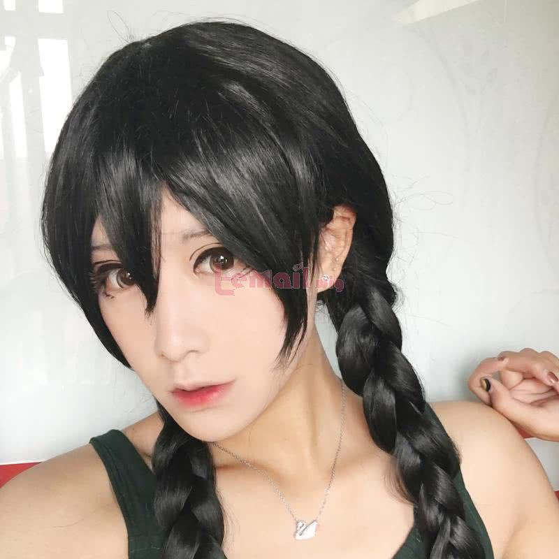 Anime Danganronpa Touko Fukawa Black Braid Cosplay Wigs