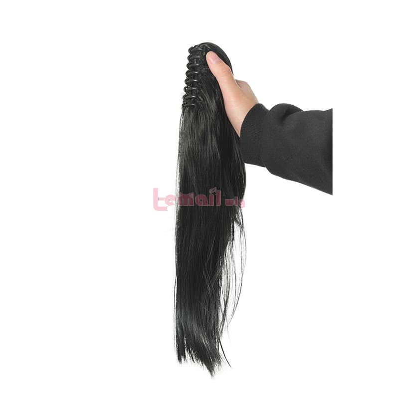 Anime Dororo Hyakkimaru Long Black Ponytail Cosplay Wigs