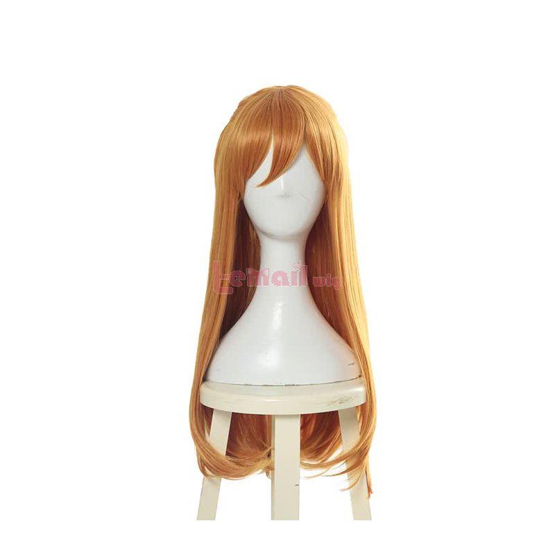 Anime EVA Asuka Langley Soryu Cosplay Wigs Synthetic Orange Women Cosplay Wigs