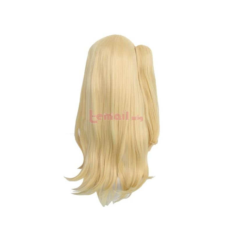 Anime Fairy Tail Lucy Heartphilia Long Straight Blonde Cosplay Wigs