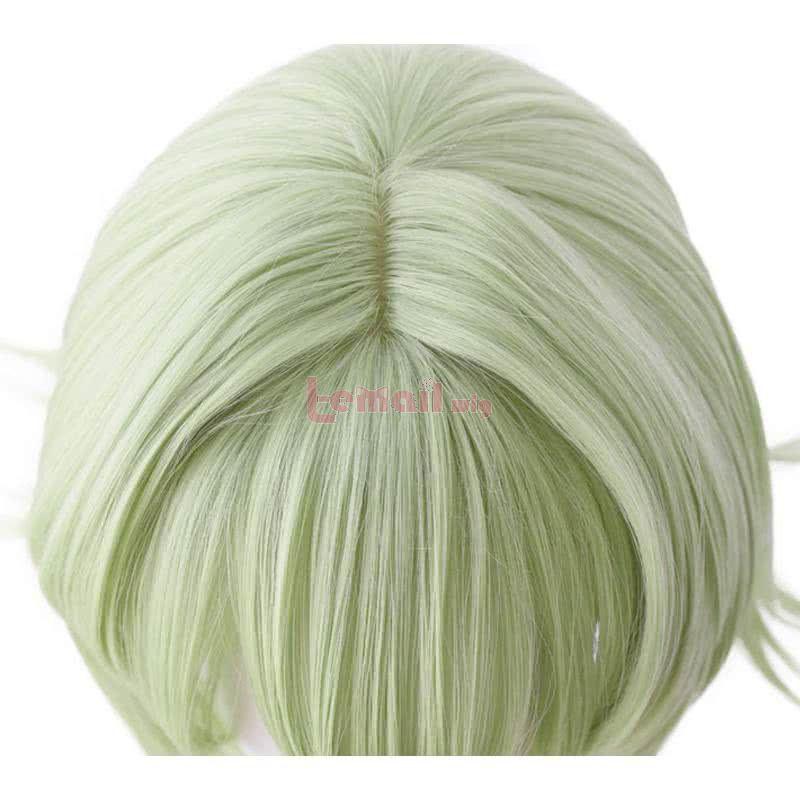 Anime Goblin Slayer Yousei Yunde 80cm Long Straight Green Cosplay Wigs