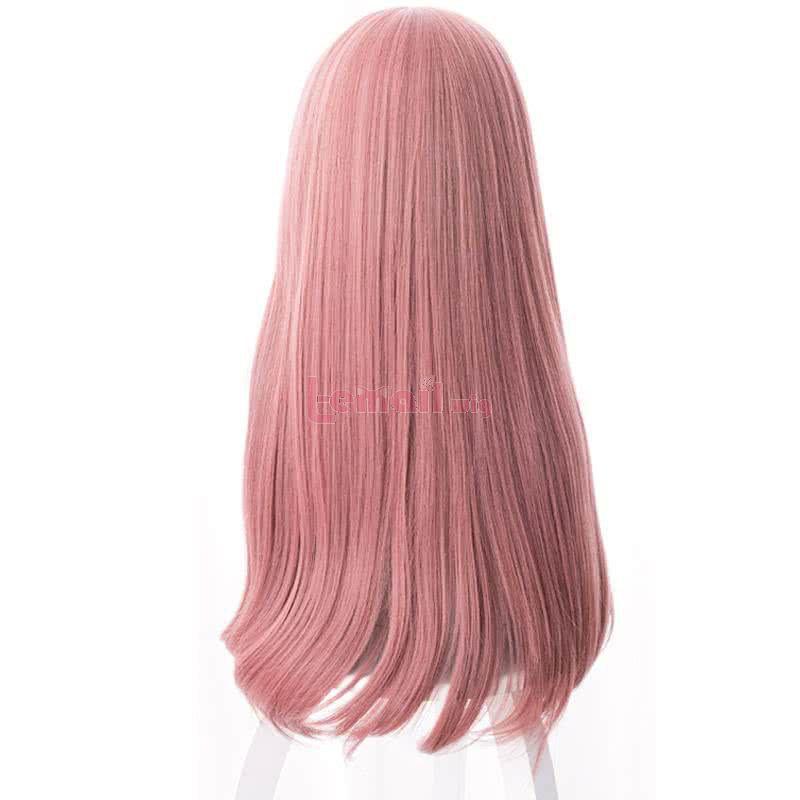 Anime Gotoubun no Hanayome Nakano Miku 60cm Long Straight Pink Cosplay Wigs