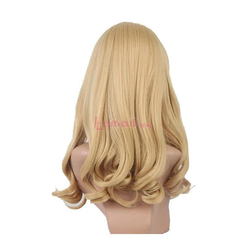Anime Guilty Crown Kuhouin Arisa Long Curly Blonde Cosplay Wigs