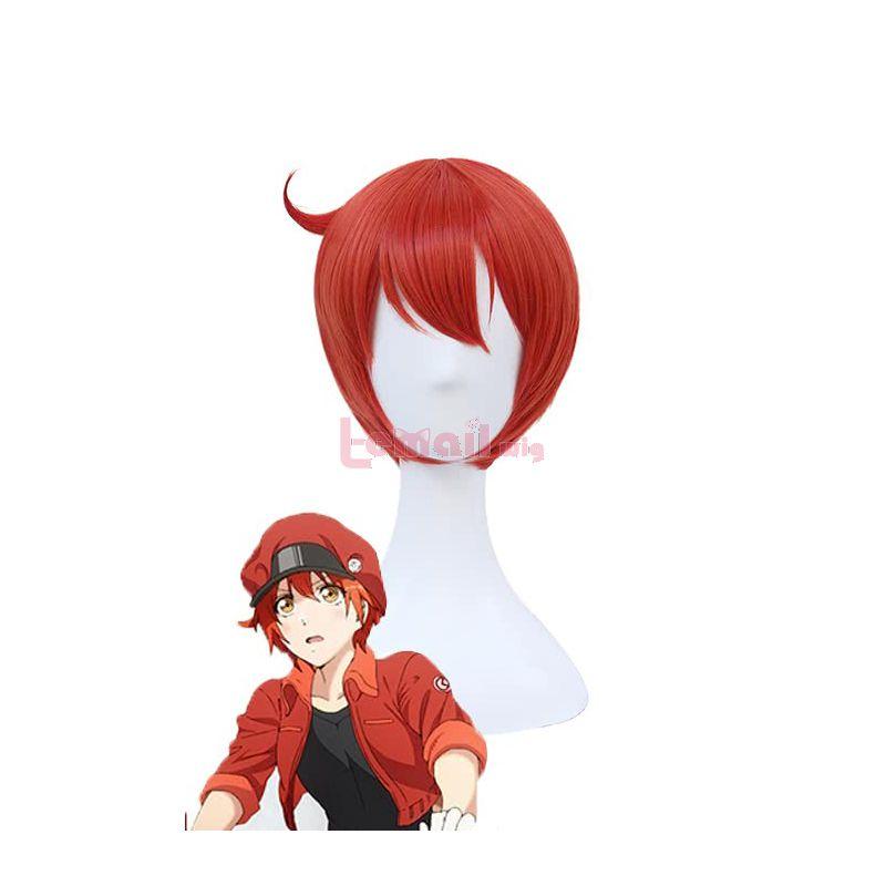 Anime Hataraku Saibou Red Blood Cell AE3803 RBC Cosplay Wigs