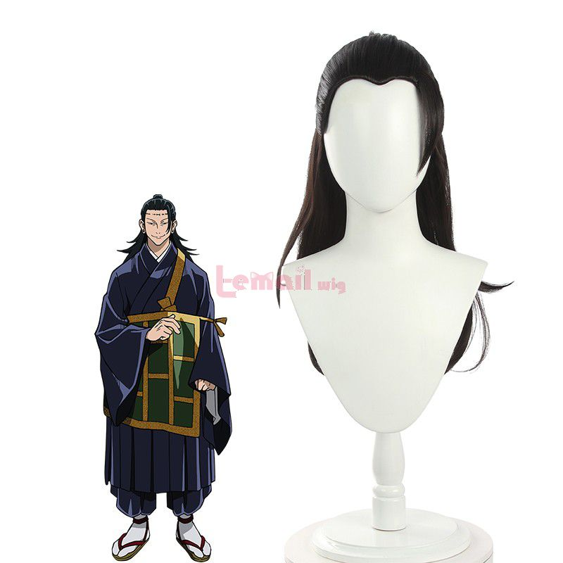 Anime Jujutsu Kaisen Suguru Getou Long Black Men Cosplay Wigs