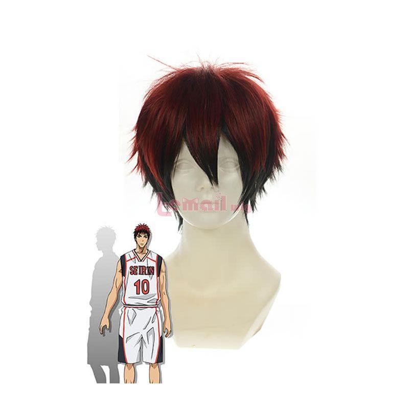 Anime Kuroko's Basketball Kagami Taiga Cosplay Wigs Red Mixed Black Short Straight