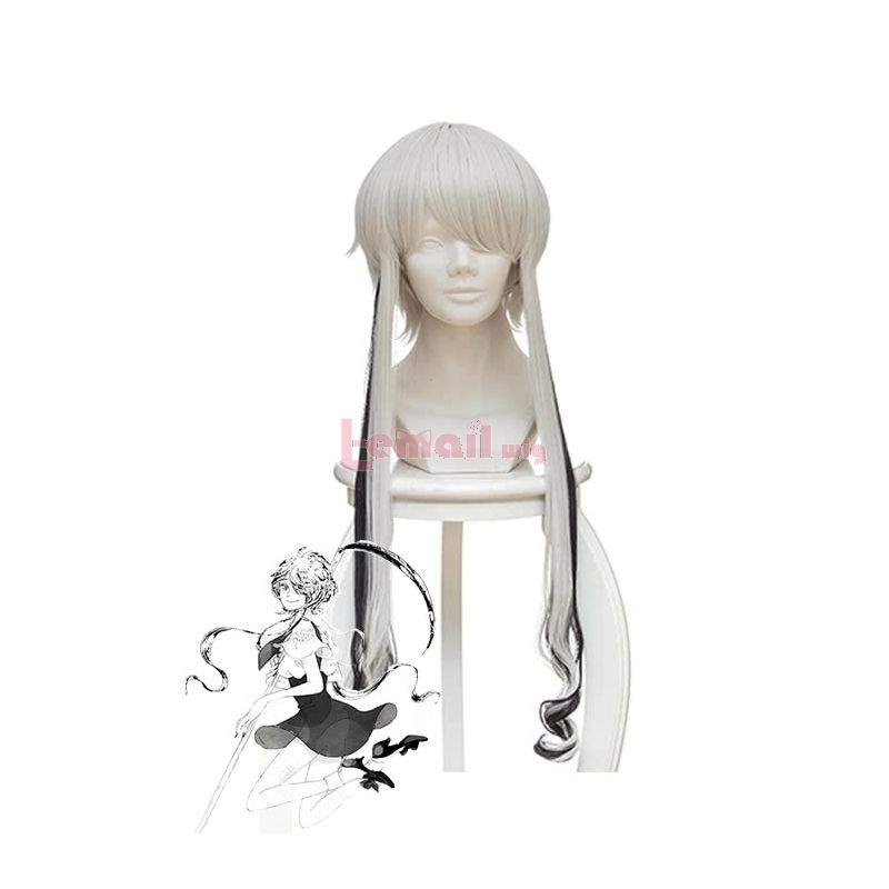 Anime Land of the Lustrous Ghost no Kuni Cosplay Wigs White and Black Long