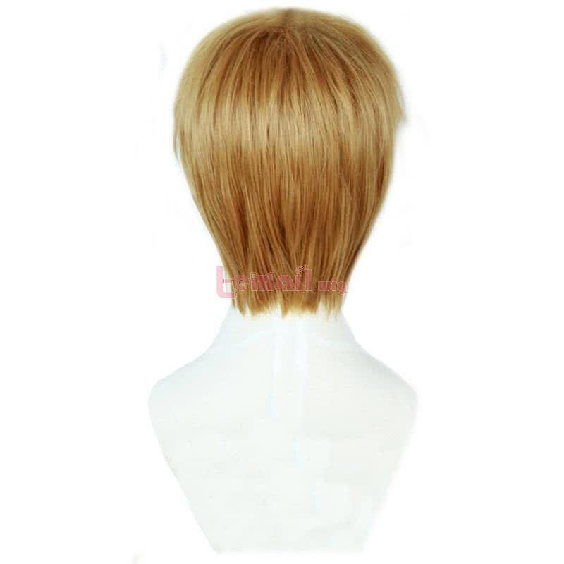 Anime Mob Psycho 100 Arataka Reigen Short Dark Yellow Men Cosplay Wigs