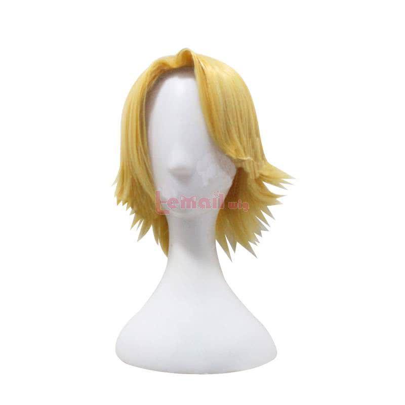 Anime My Hero Academia Aoyama Yuga Short Straight Yellow Cosplay Wigs