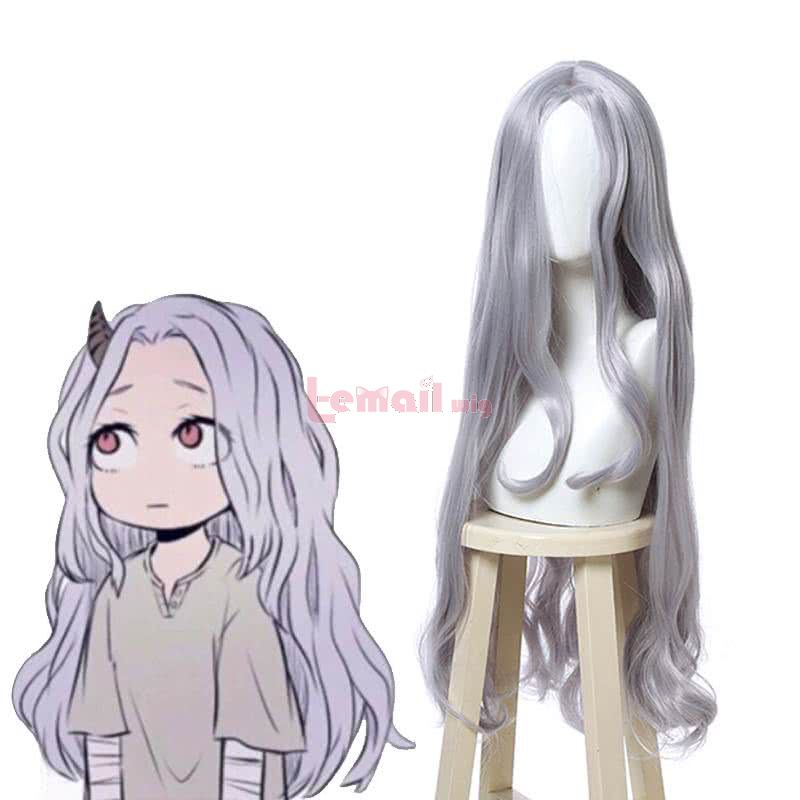 Anime My Hero Academia Eri Long Wave Grey Blue Cosplay Wigs