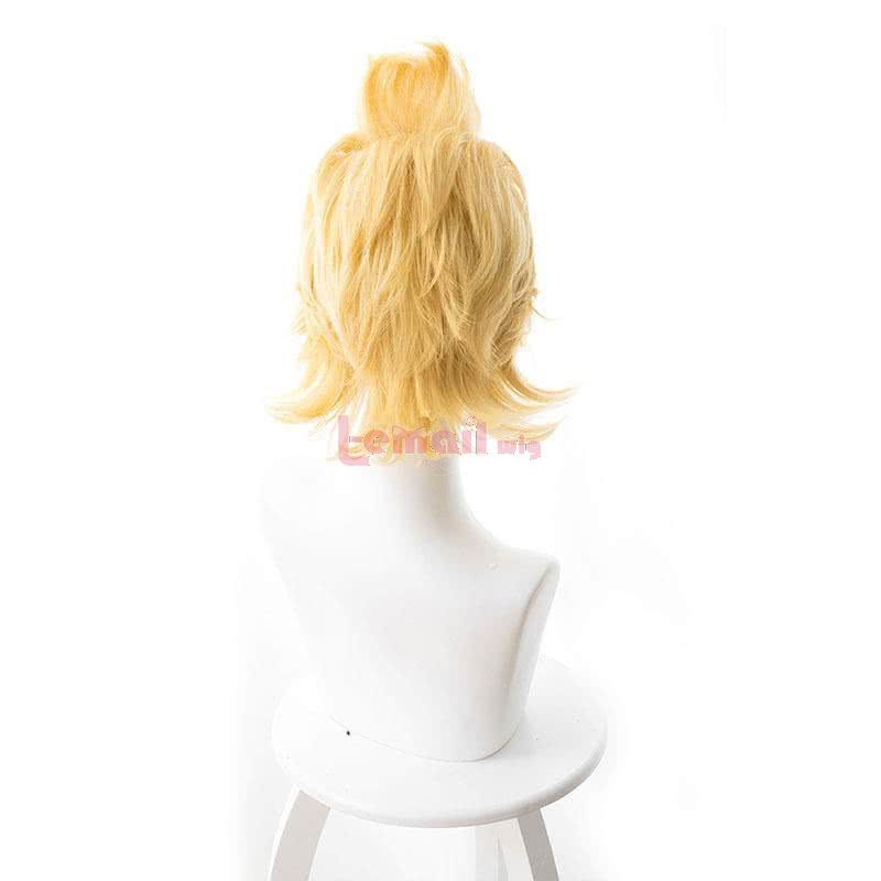 Anime My Hero Academia Million Short Straight Blonde Men Cosplay Wigs