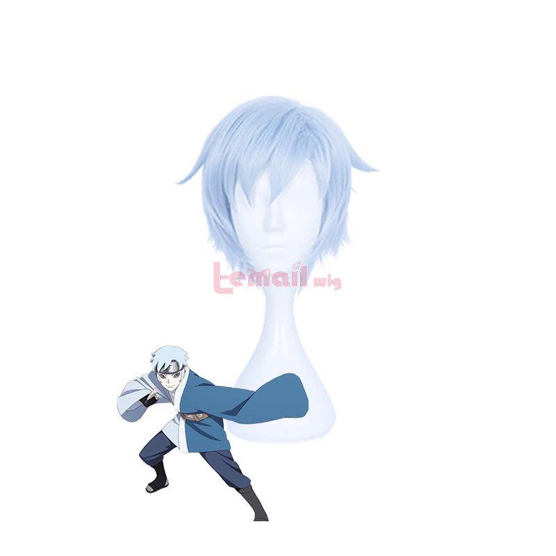 Anime Naruto Mitsuki Cosplay Wigs Blue Short