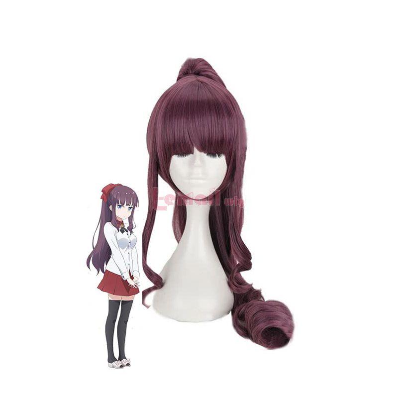 Anime NEW GAME! Hifumi Takimoto Purple Long Cosplay Wigs