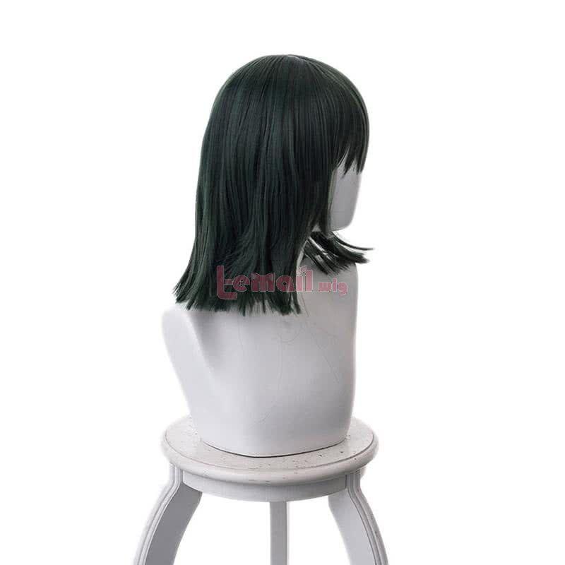 Anime One Punch Man Fubuki 40cm Dark Green Straight Cosplay Wigs