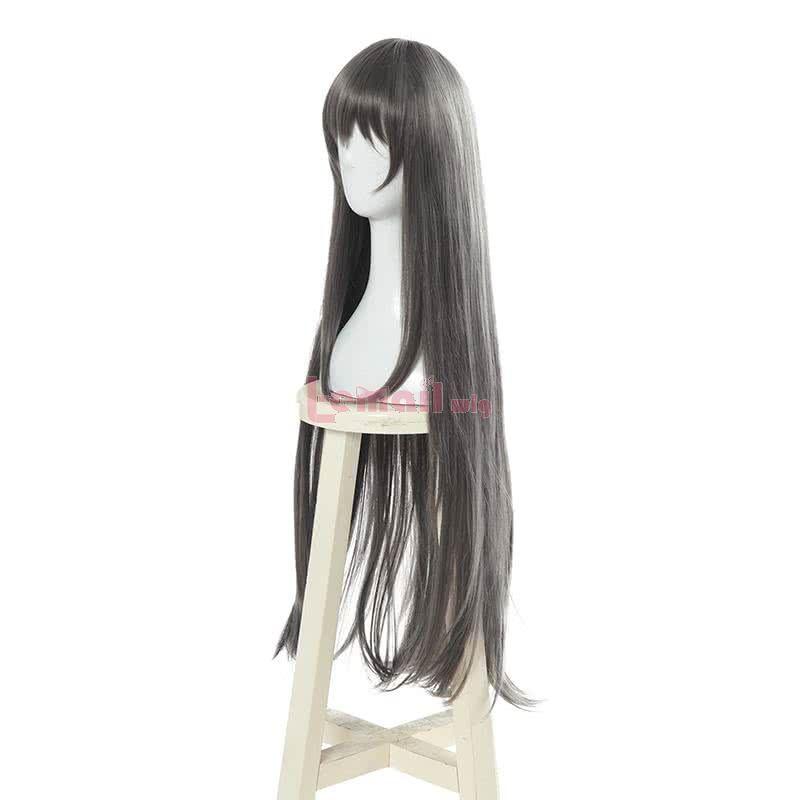 Anime Seishun Buta Yarou wa Bunny Girl Senpai no Yume wo Minai Sakurajima Mai Dark Gray Cosplay Wigs