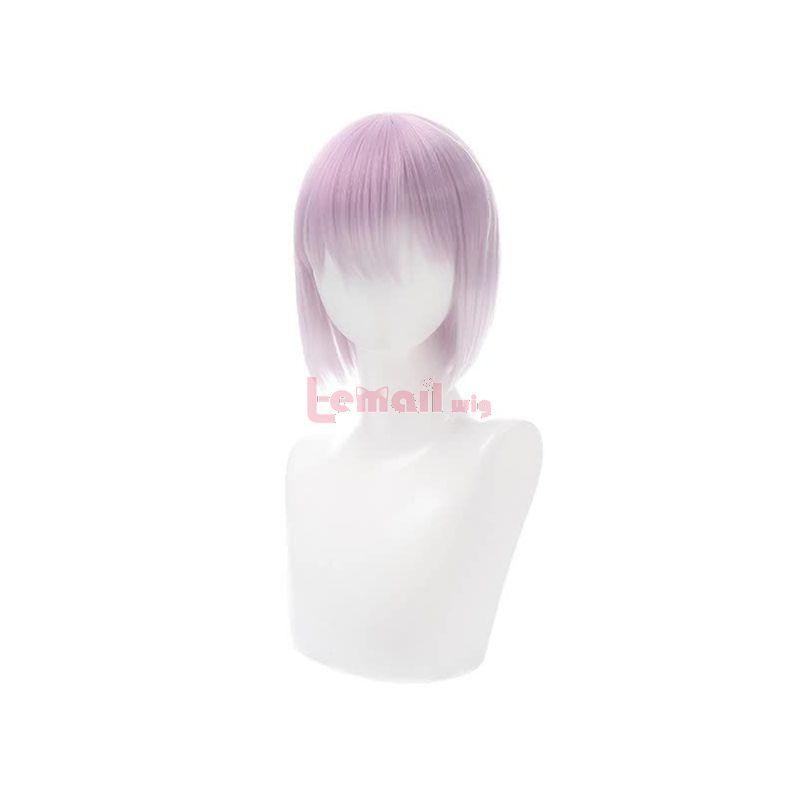Anime SSSS.GRIDMAN Shinjo Akane Short White Pink Cosplay Wigs