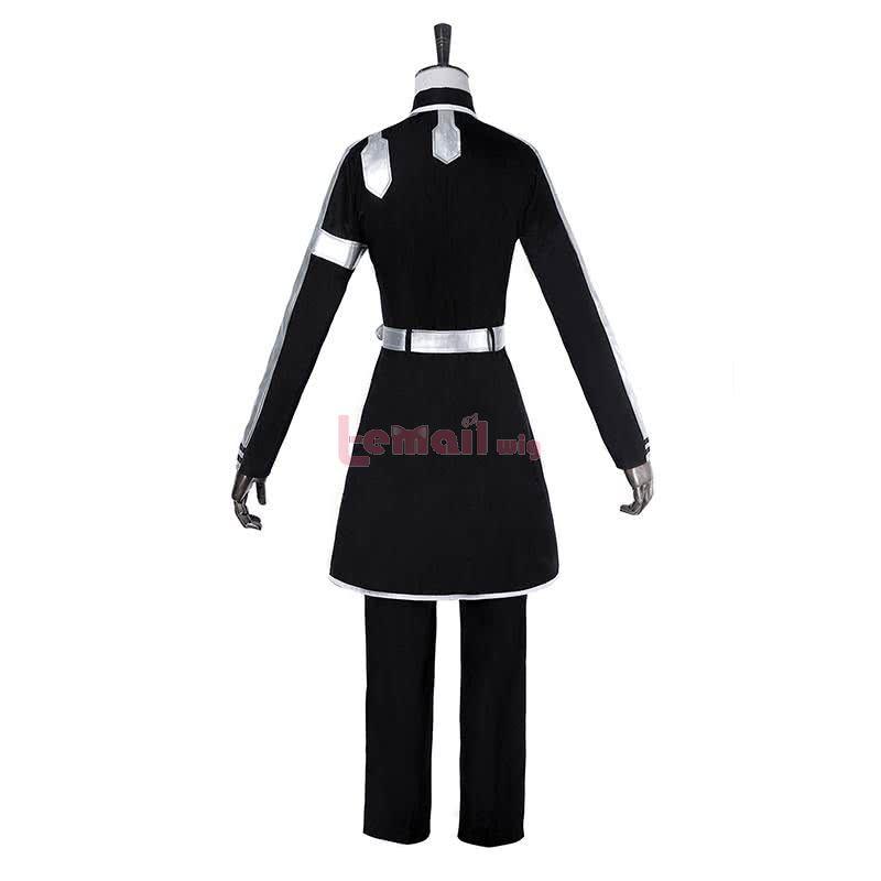 Anime Sword Art Online: Alicization Kazuto Kirigaya Long Black Cosplay Costume