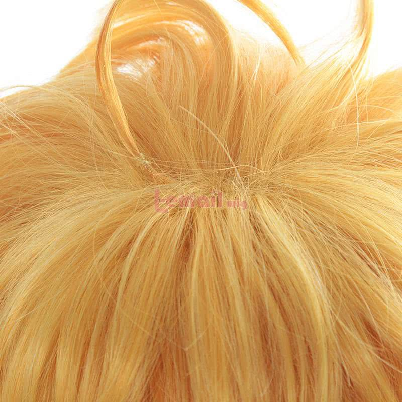 Anime The Promised Neverland Emma Short Curly Yellow Cosplay Wigs