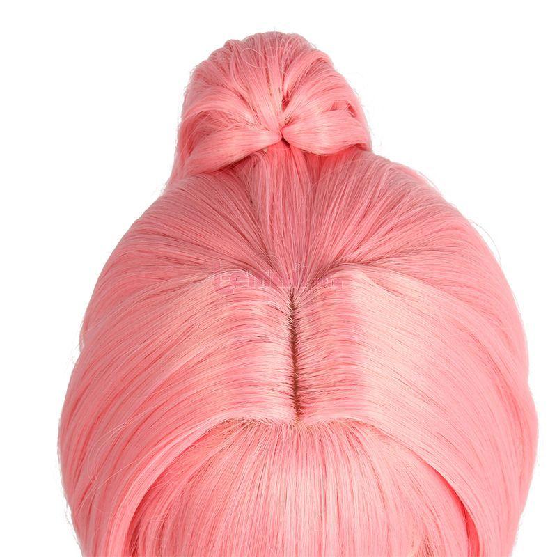 Anime Uma Musume Pretty Derby Haru Urara Long Bangs Ponytail Pink Cosplay Wigs