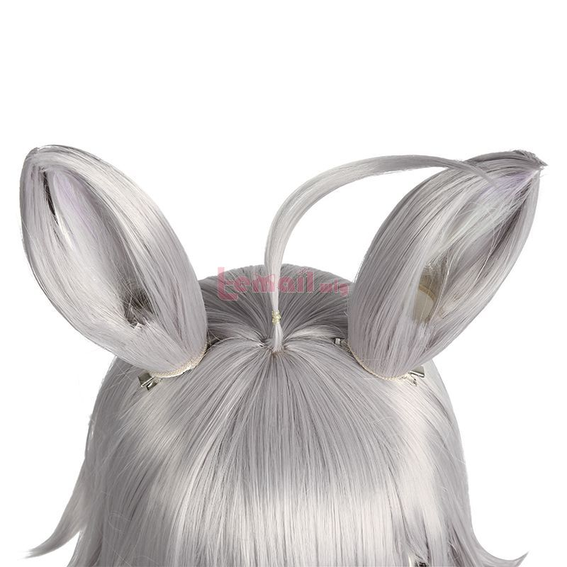 Anime Uma Musume Pretty Derby Oguri Cap Long Grey Ears Cosplay Wigs