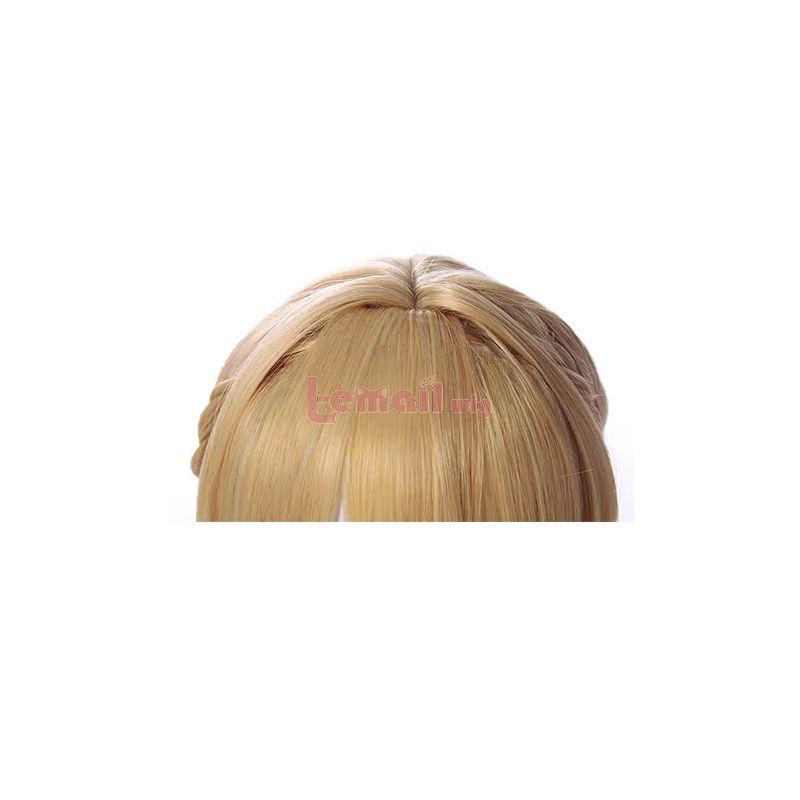 Anime Violet Evergarden Blonde Updo Cosplay Wigs