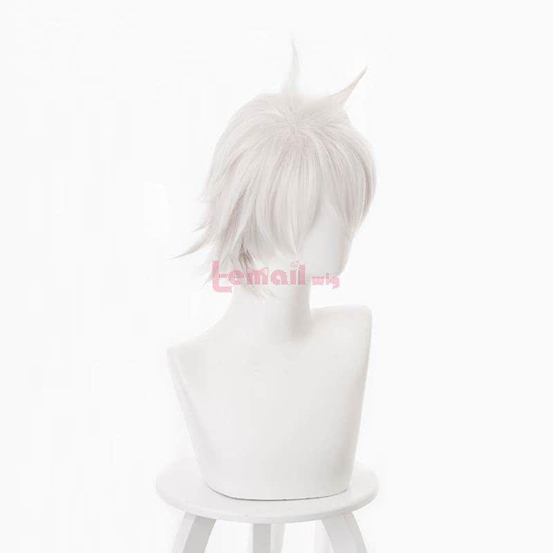 Arifureta Shokugyou de Sekai Saikyou Hajime Nagumo Short Light Grey Men Cosplay Wigs
