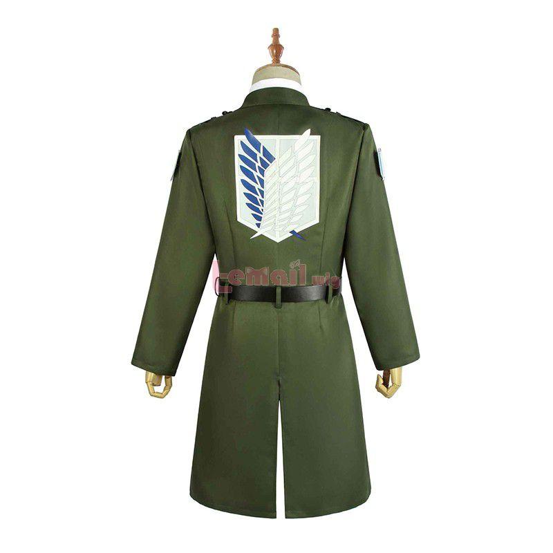 Anime Attack on Titan Season 4 Eren Yeager Scouting Legion Cosplay Costume