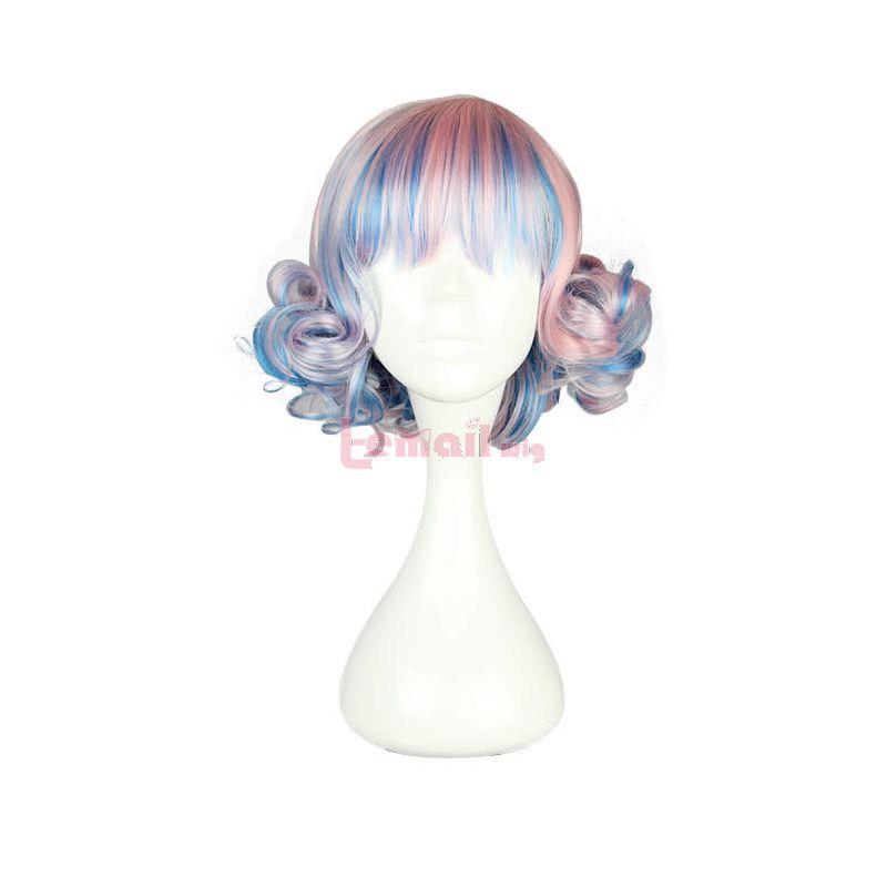 30cm Short Zipper Mixed Color Lolita BOB Cosplay Wig
