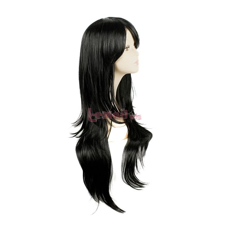Beyond the Boundary Nase Mitsuki Long Straight Synthetic Hair Black Party Cosplay Wigs