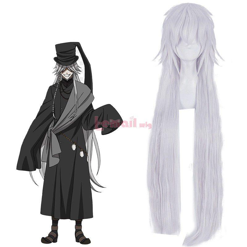 Black Butler Kuroshitsuji Undertaker Grey Cosplay Wigs