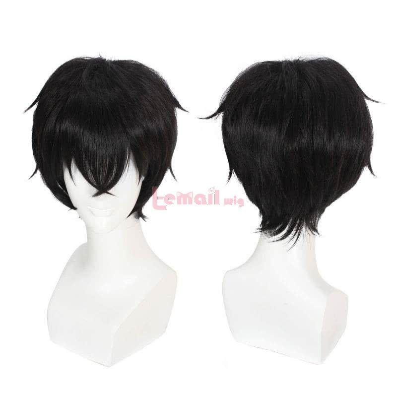black short cosplay wigs