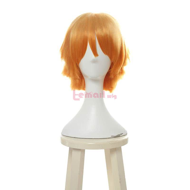Demon Slayer / Kimetsu no Yaiba Agatsuma Zenitsu Short Orange Gradient Men Cosplay Wigs