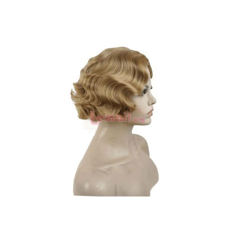 Blonde Wave Short Curly Fashion Wigs