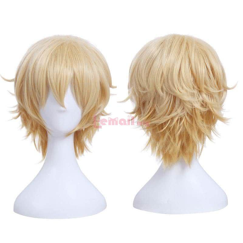 Blonde short cosplay wigs