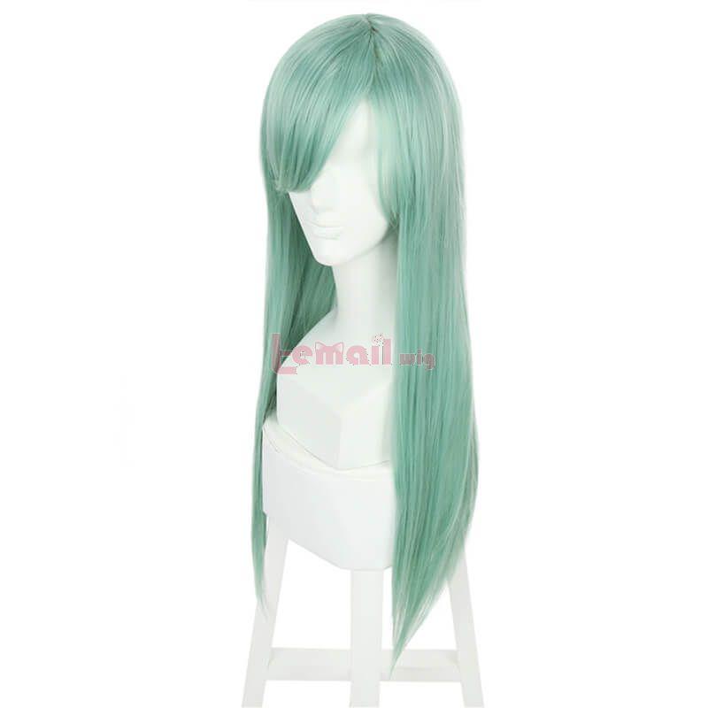 long blue wigs cosplay