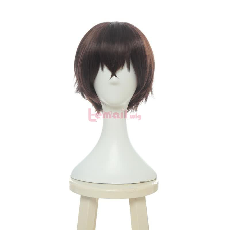 Anime Bungo Stray Dogs Dazai Osamu Short Brown Men Cosplay Wigs