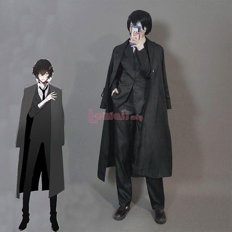 Anime Bungou Stray Dogs Armed Detective Osamu Dazai Men Cosplay Costumes