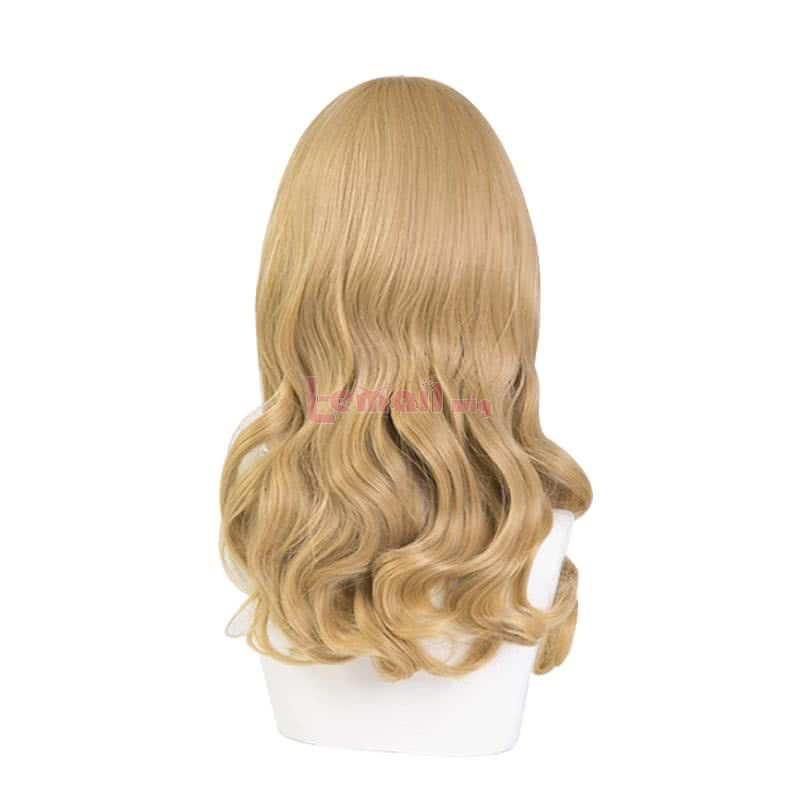 CAROLE & TUESDAY Tuesday Long Curly Blonde Cosplay Wigs with Flat Bangs