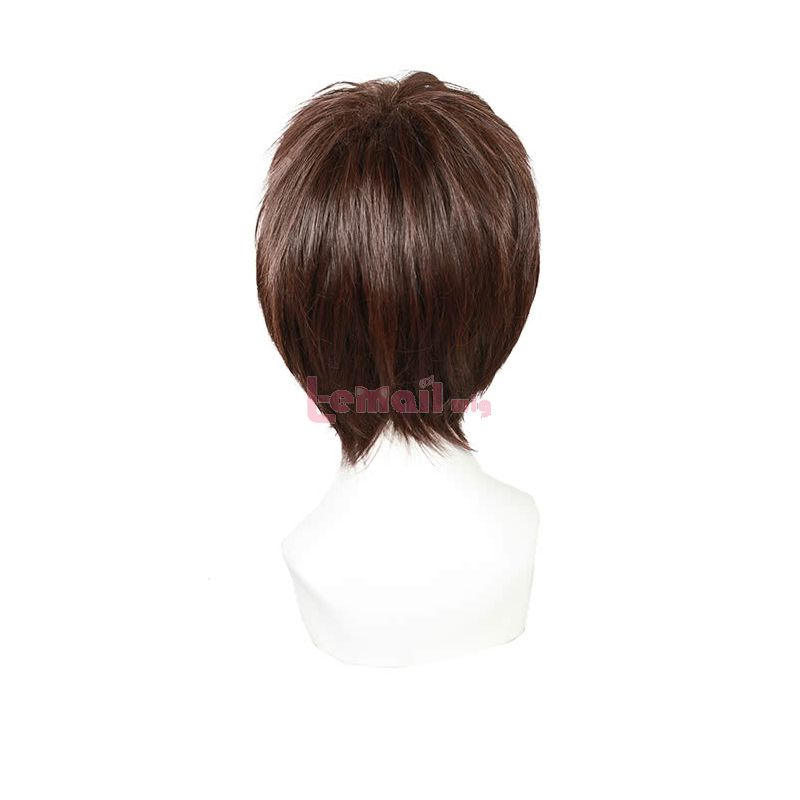 Short Dark Brown Ao no Exorcist Okumura Yukio Cosplay Wig