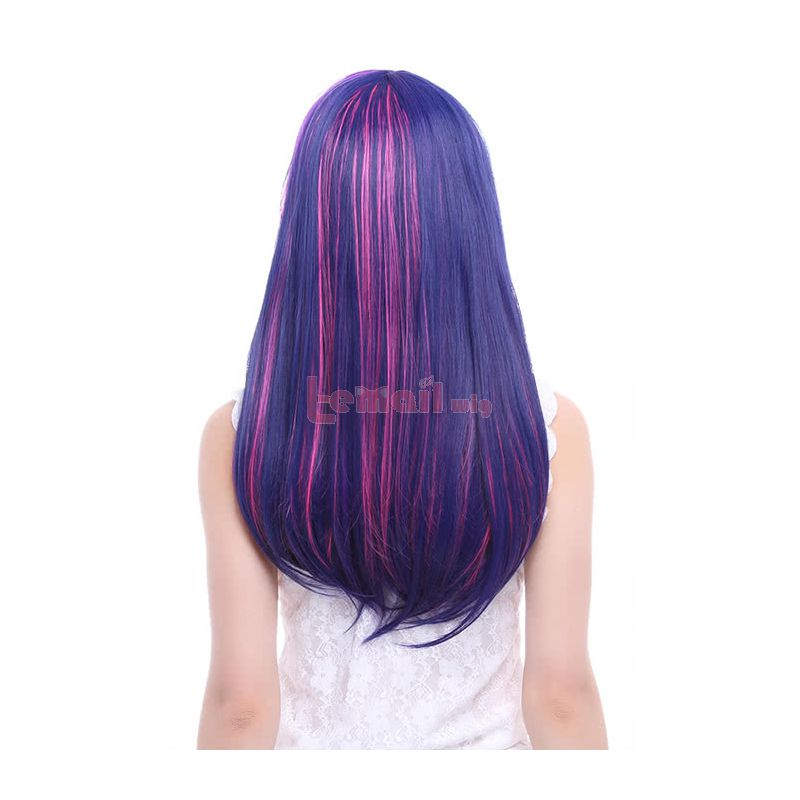 60CM Purple mixed Pink My Little Pony Twilight Sparkle Cosplay Wig