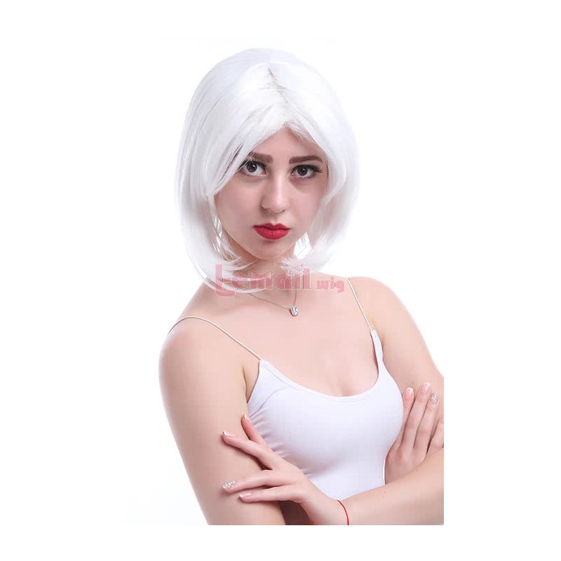 35cm Fashion Short White BOB Wig Supple Wig cb46g