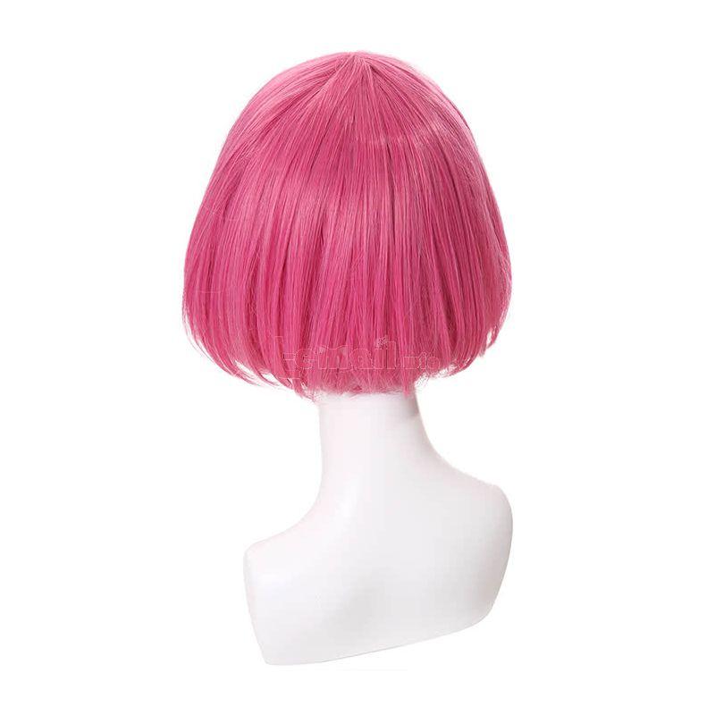 30cm Short Bob Deep Pink Cosplay Wig