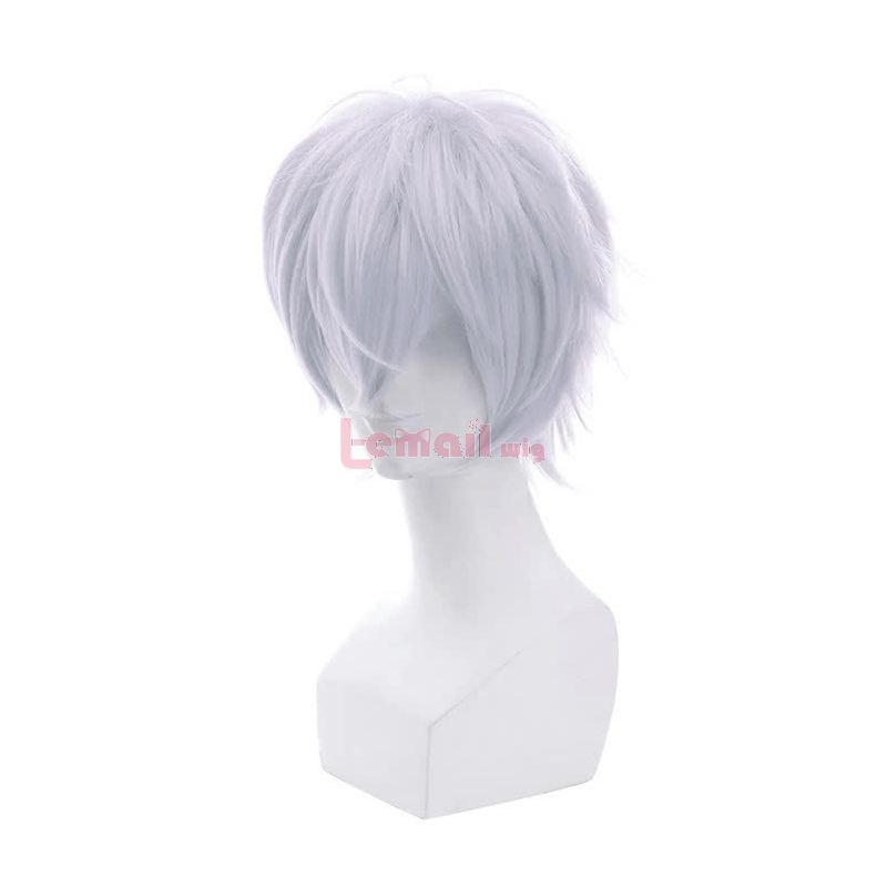 New Movie Big Fish & Begonia Qiu Short White Straight Synthetic Fluffy Cosplay Wigs
